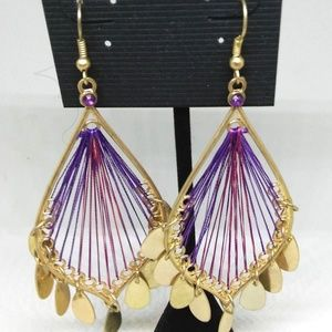 Teardrop Earrings String Art Drop/Dangle 1273